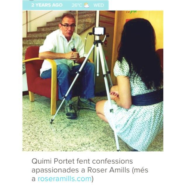 Roser Amills con Quimi Portet