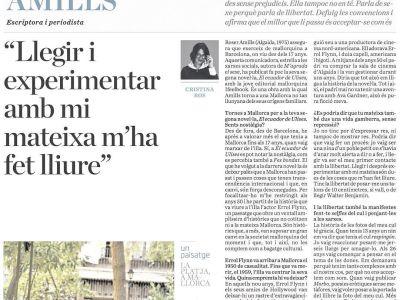 Entrevista diari ARA: parlo de El #ecuadordeUlises #errolflynn #mallorca anys 50