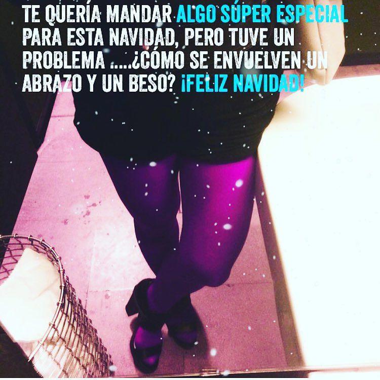 Cómo se envuelven un abrazo y un beso? #feliznochebuena ;))