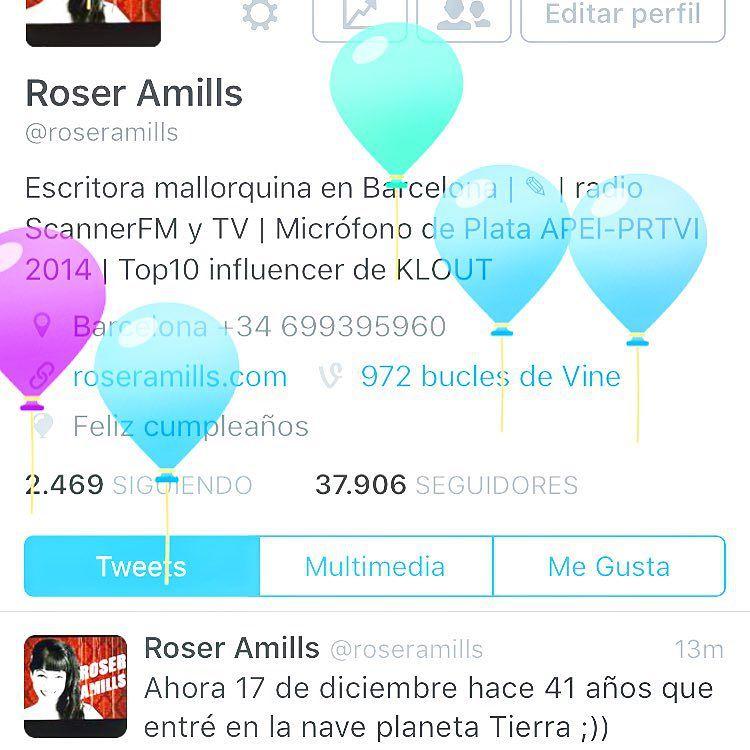 Es una monada la fiesta de globitos que me ha montado twitter por mi cumpleaños ;))