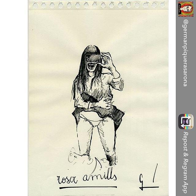 Gracias @gemanpiquerasarona por esta ilustración: #bocadetiburona jajaja Repost from @germanpiquerasarona using @RepostRegramApp - #InstaSize #instaart #instaartist #art #arte #artist #artista #work #illustration #ilustracion #draw #drawing #funny #photooftheday #roseramills #germanpiqueras #write #book #ink #pic #photo #dibujo #paper #girl
