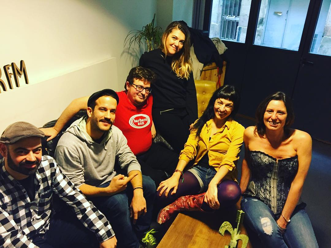 Reunidos después del programa #roseramil sobre fetichismo ;))