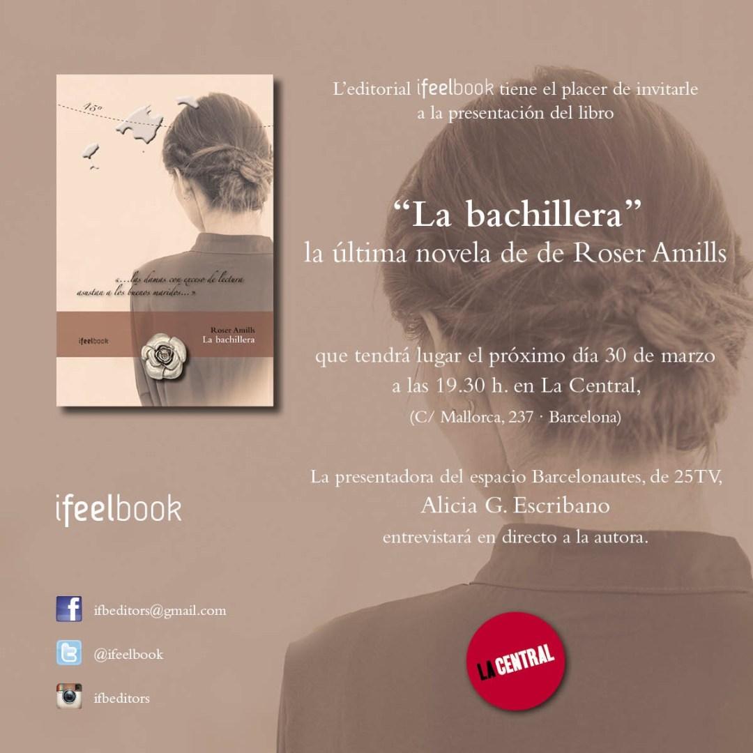 El próximo miércoles, día 30, tenemos una cita en @la_Central_ a las19:30h con #Labachillera Brindaremos!
