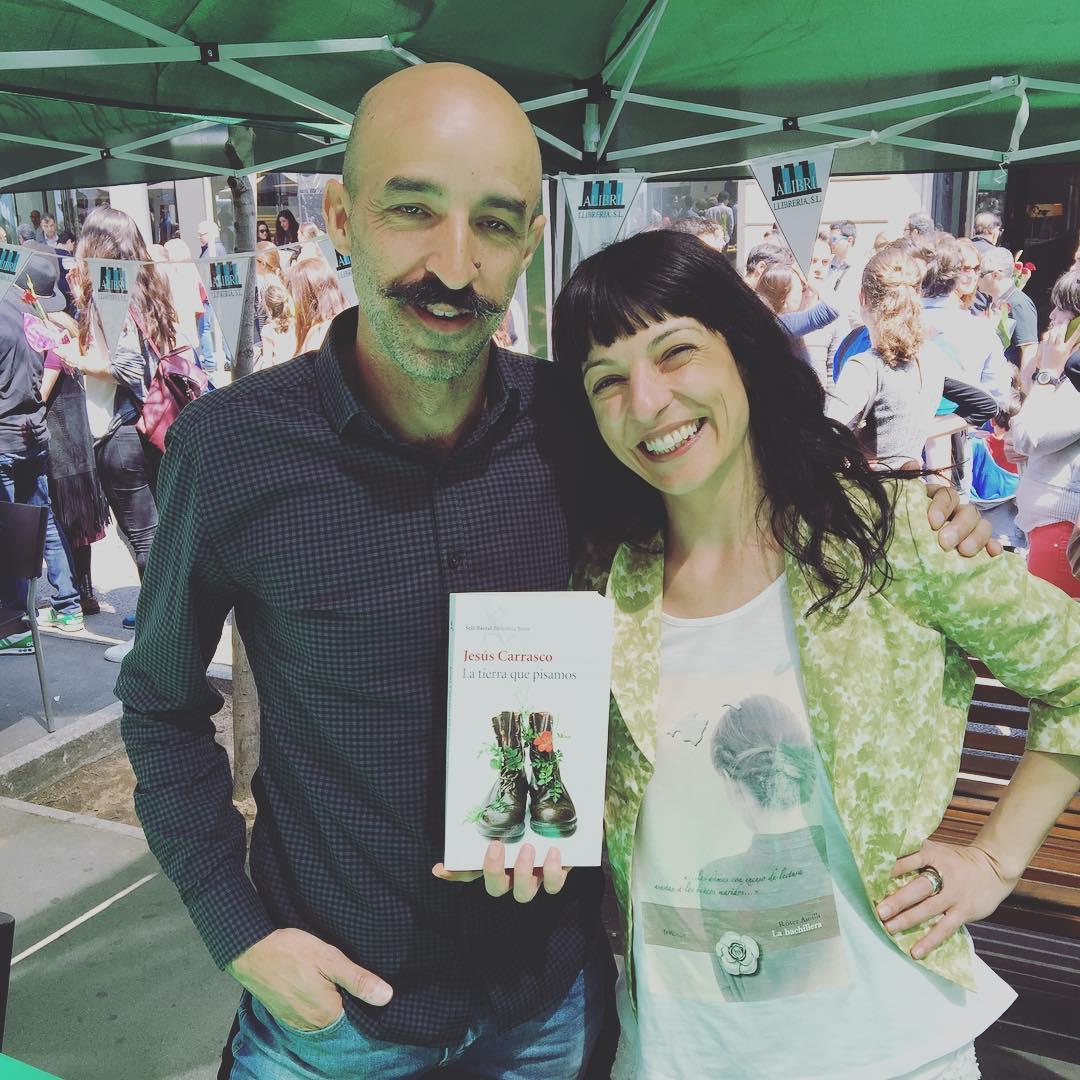 Con Jesús Carrasco en un muy Feliz Sant Jordi 2016