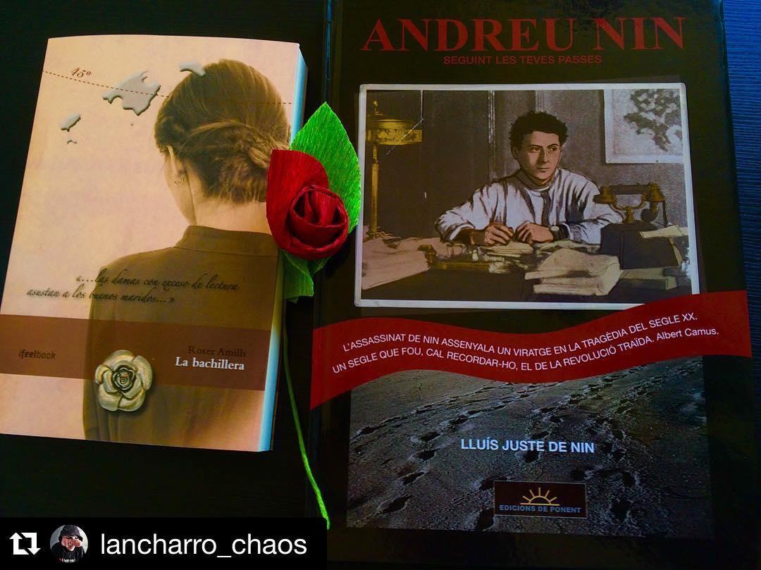 Dice @lancharro_chaos que el primer Sant Jordi en el nuevo piso es con dos buenos libros ;))