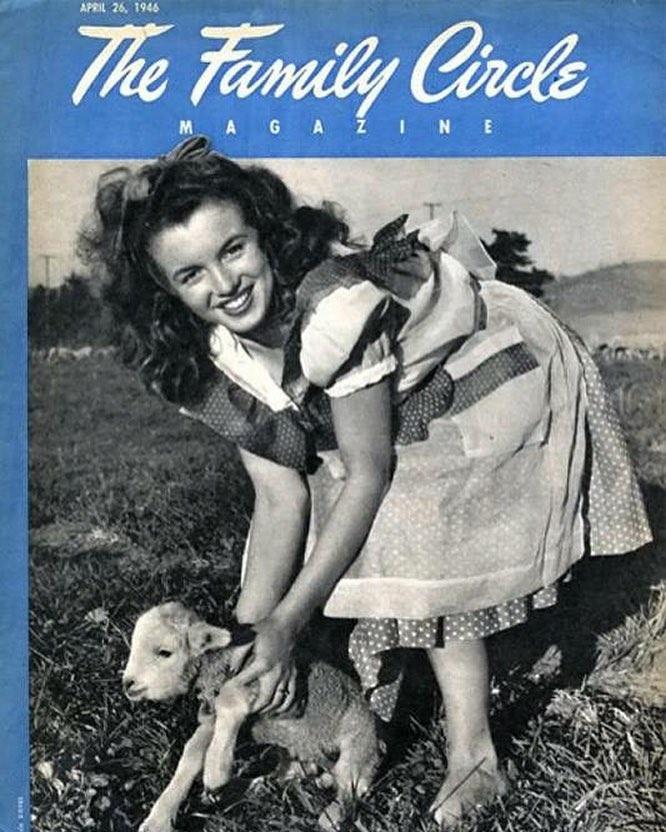 Tal día como hoy, en 1946 Marilyn Monroe apareció en su primera portada (revista nacional familiar)