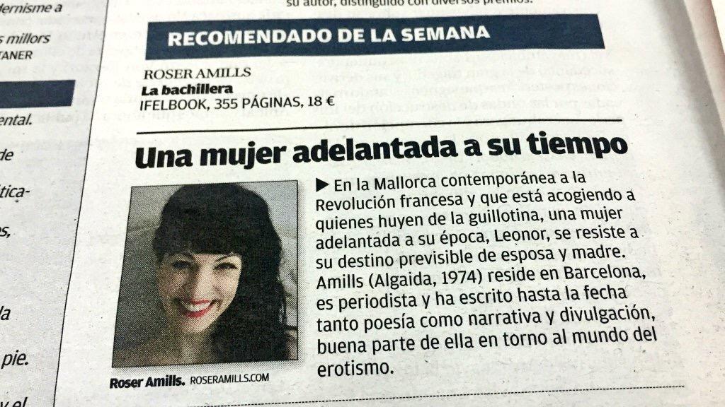 Novela La bachillera de Roser Amills