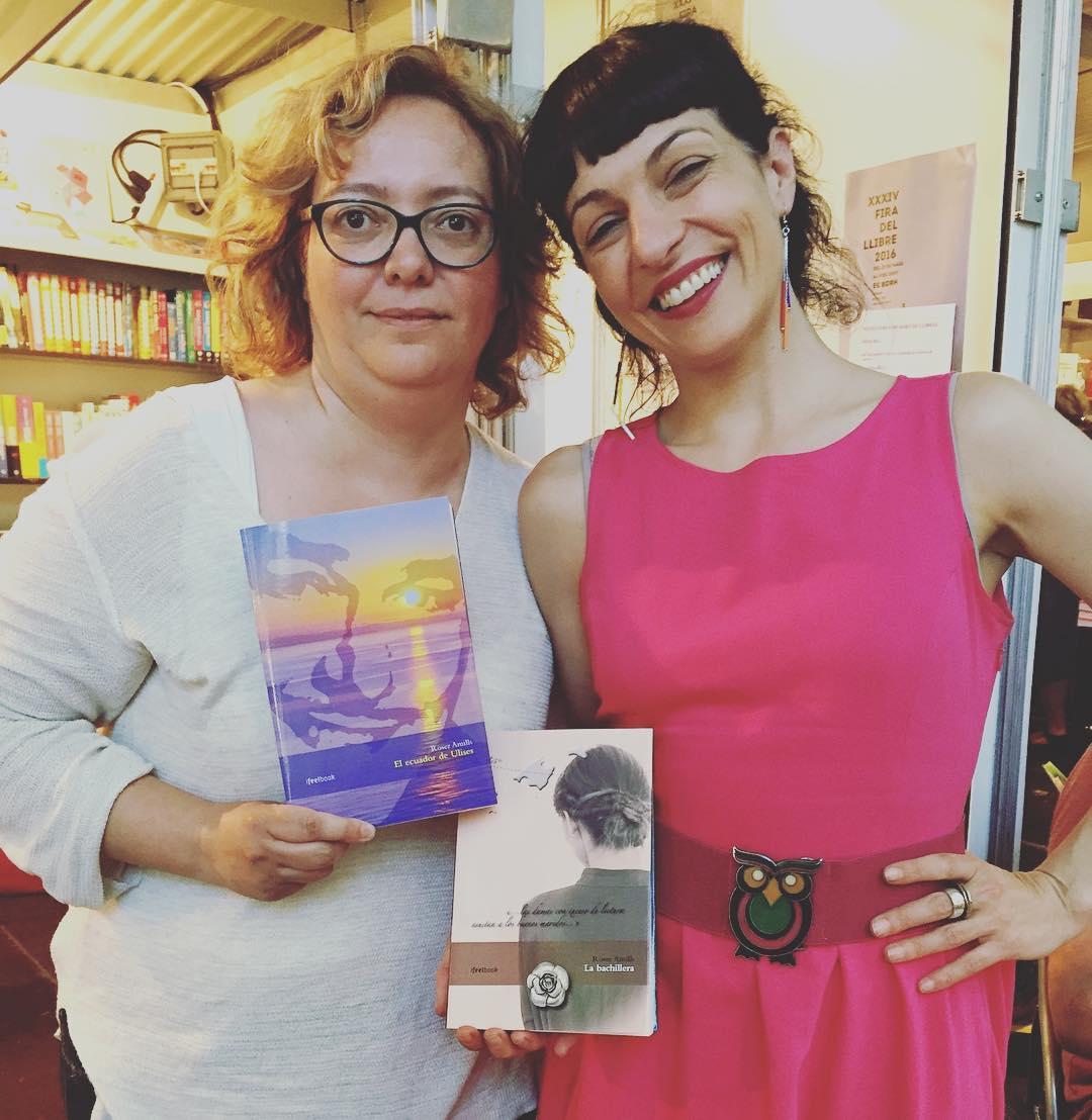 Orgullosa de ser a @bornllibres amb @Margalidaramon #FiraLlibre2016 #Palma