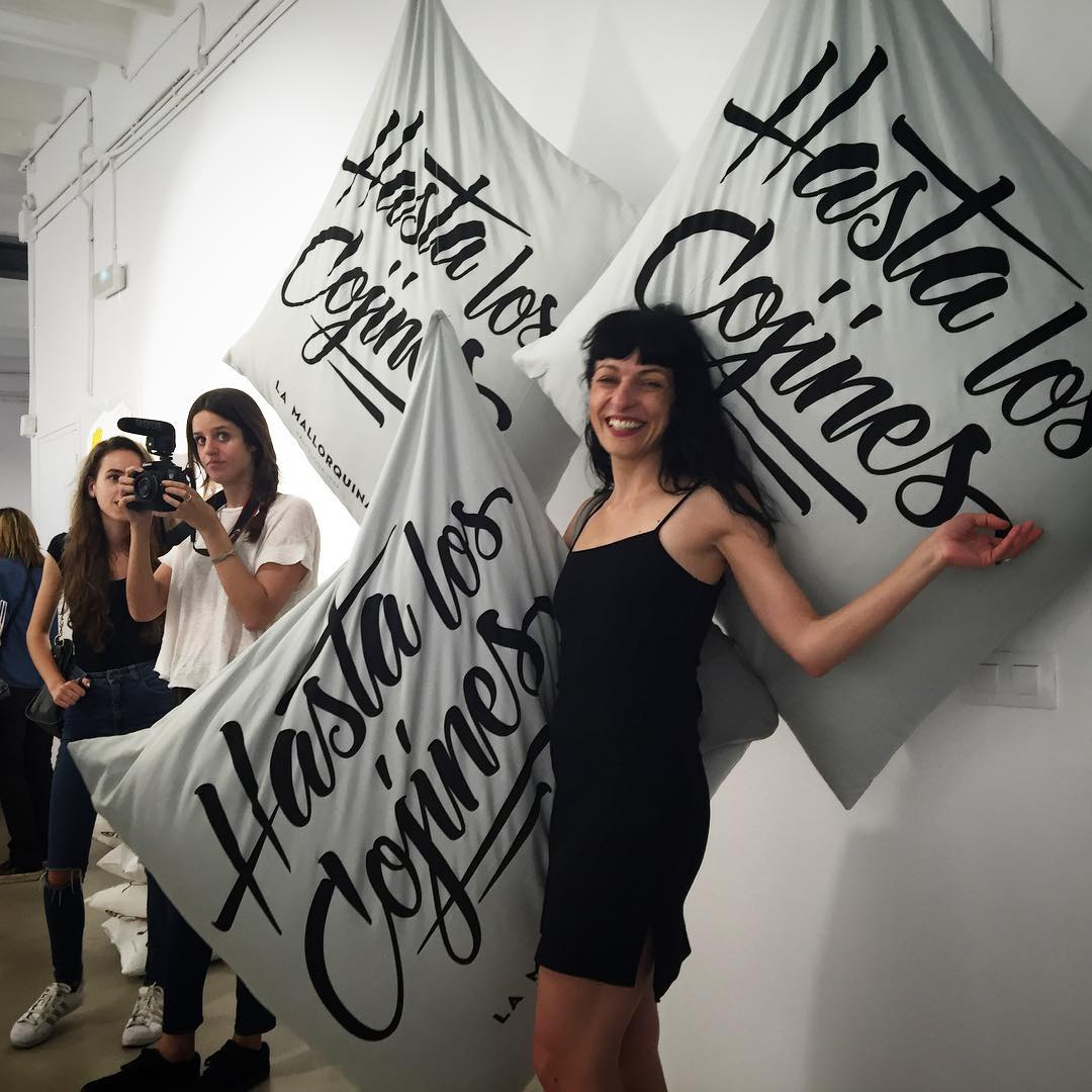Maravilloso photocall el que ha montado @lamallorquina20 con #designseriesbcn ;))