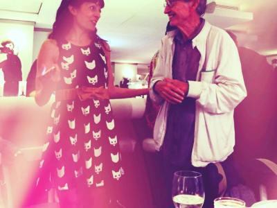 Noche especial: saludados con el cariño de siempre… Y #XavierRubertdeVentós tenía un mensaje para mi #novela2017 Gracias @flashflash_barcelona ;)) 46añosflashflash #46anysflashflash #flashflash46 #food #foodporn #yum #instafood #barcelona