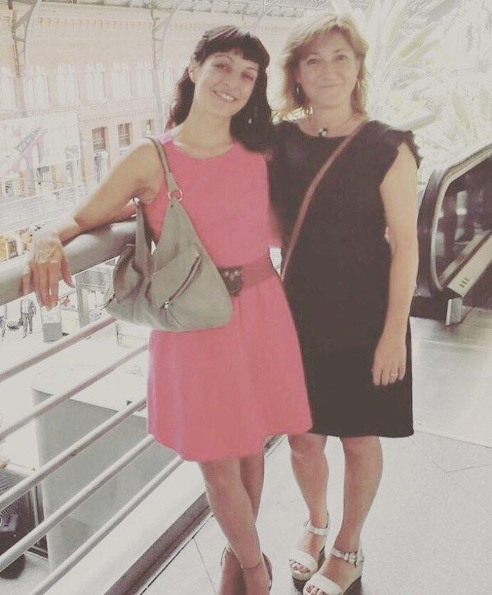 Gran momento, con @aliciapomares juntas en Atocha ;))