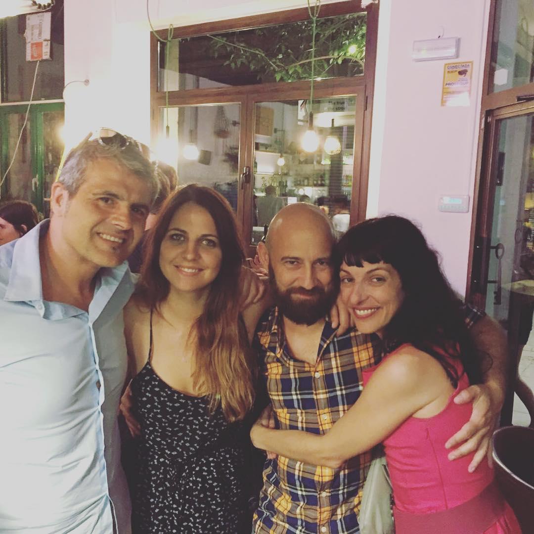 Gran noche! ;)) Con @bd_studio @lidiaguevara y @newmorris y mucha alegría!