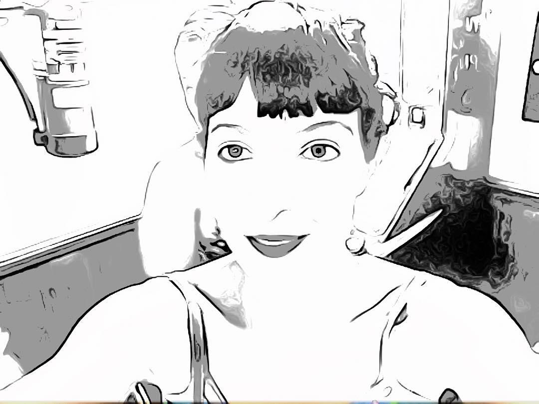 Así estoy ahora en el @bar_pietro de #dibujoanimado ;))