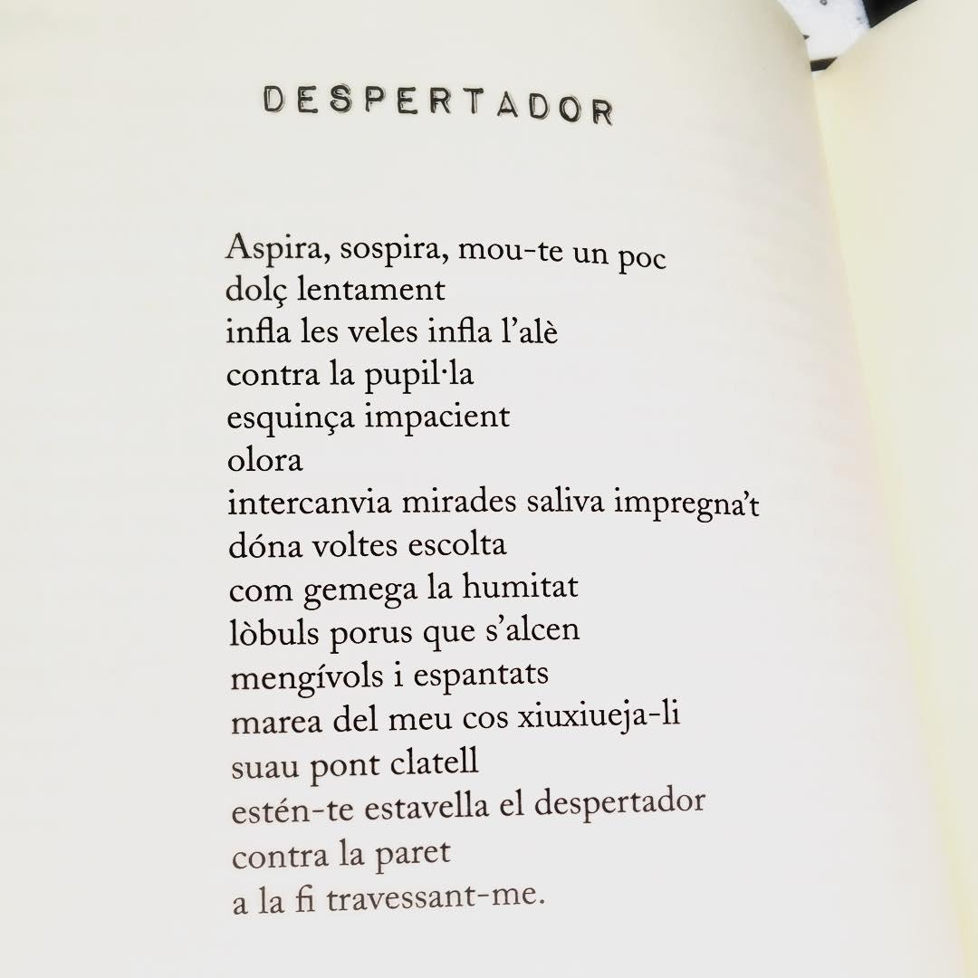 És l'hora del despertador ;)) Poema de #morbo (Cossetània ed. 2011) #amillsmorning #bondia #buenosdias