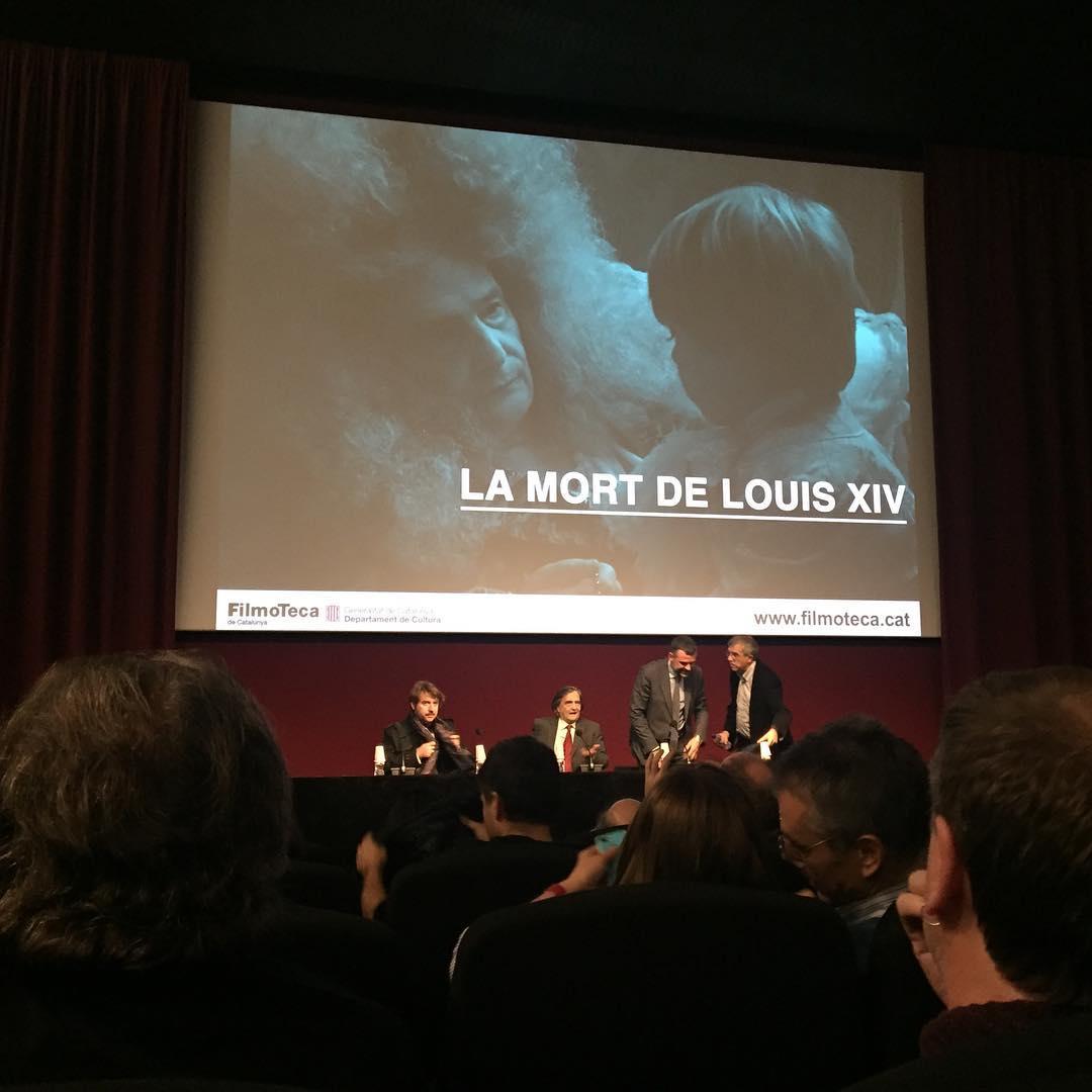 Comencem presentació a #lafilmoteca amb #andergraunfilms #albertserra #lamortdelouisXIV