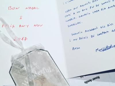 Preciosa Margalida!!! Gracis #margalidaramon @agramnomar💕💕💕#happynewyear per a tu! #librosyexcursiones