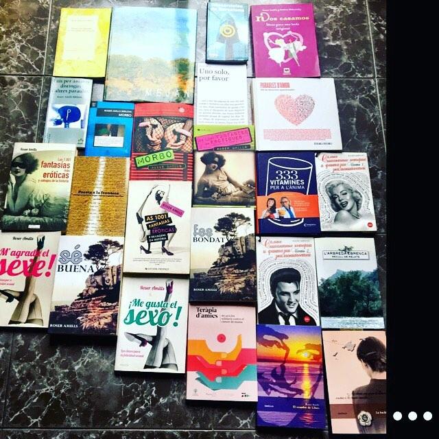 Algunos de mis libros en imperfecto orden cronológico: cuánto me urge hablaros de la ;))