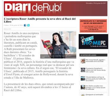Entrevista a Roser Amills diari de Rubi
