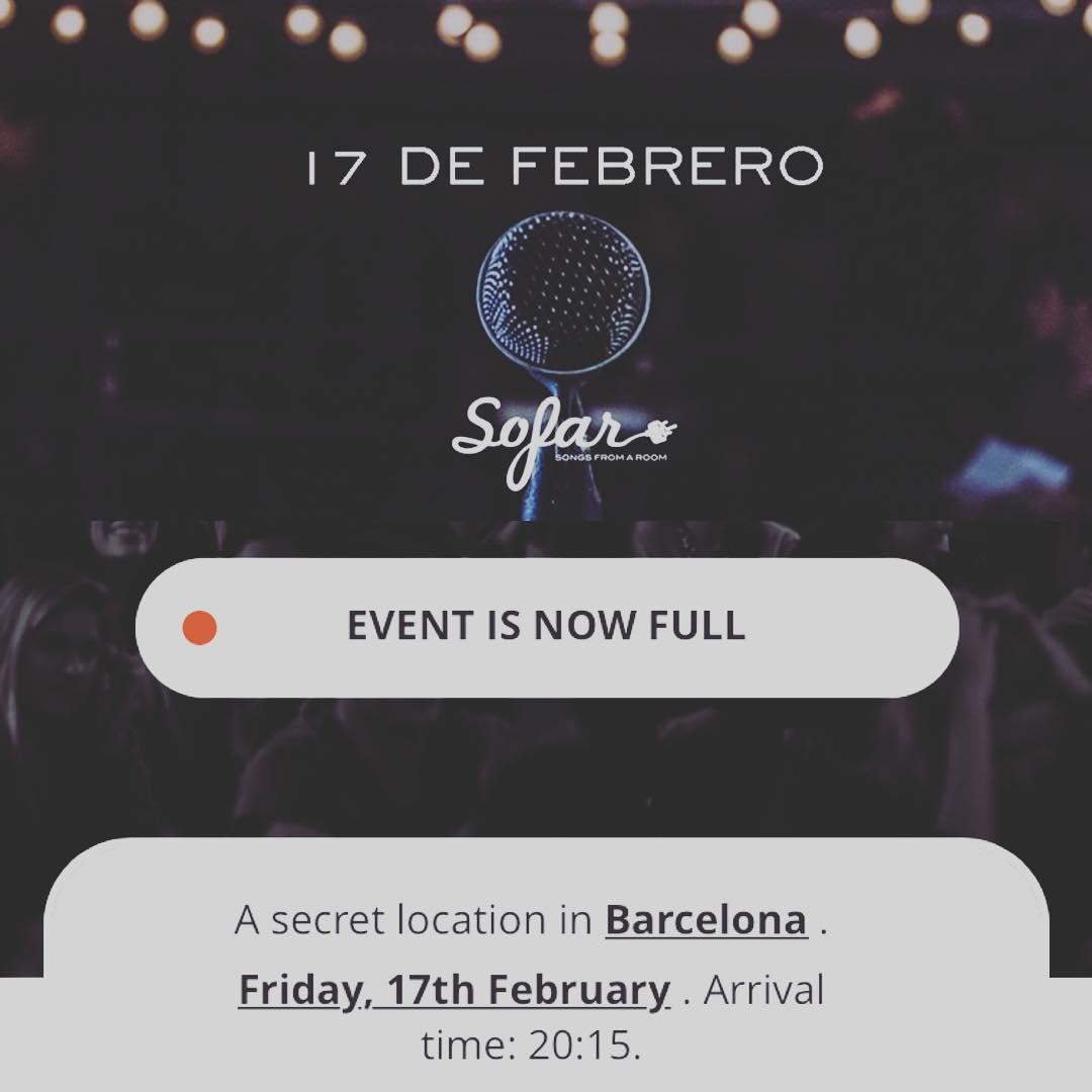 ¡En unas horas cumple años @sofarbarcelona ! Esta noche nos espera un Sofar especial, allá voy😀#4AñosSofarBcn