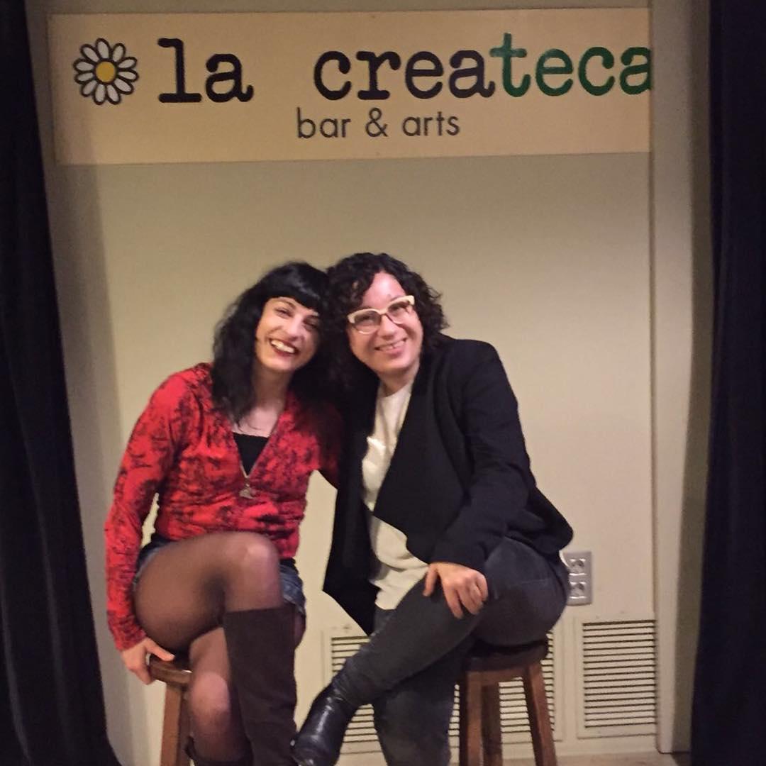 Amb la @mantoniamassanet a @LaPoeteca @la_createca [foto d' @afromarc86]