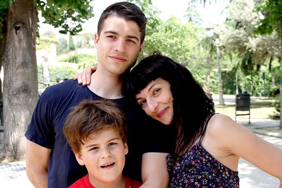 Adorable foto de Josep Ramón Guillén con mis dos hijos, Marcel y Joan 💕