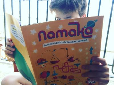El meu fill gaudeix molt el 1er número de @RevistaNamaka, nova revista infantil de qualitat #divertida #salvatge #educativa