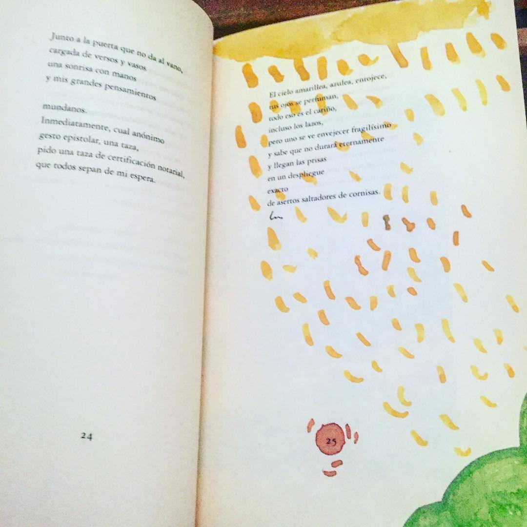 Me fascina que este lector-pintor haya pintado sobre mi poema de #unosoloporfavor @calambureditorial 1997
