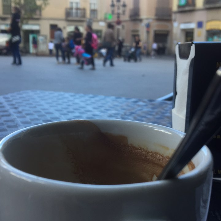 Una taza de café es un buen mirador :))