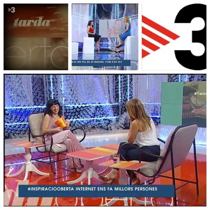 Pots veure ara TV3 a la carta? Link a la meva bio de l' #inspiraciooberta a @tardaobertatv3 d'ahir ))