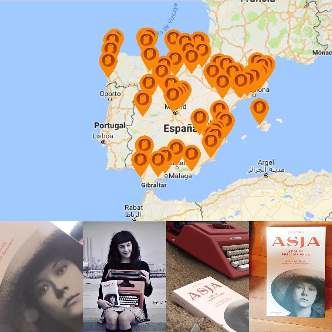 Aquí tienes un mapa actualizado de las #librerías que ya tienen mi novela sobre #asjalacis . Busca la tuya en el link de mi bio 📚💕 #asjalacis & #walterbenjamin