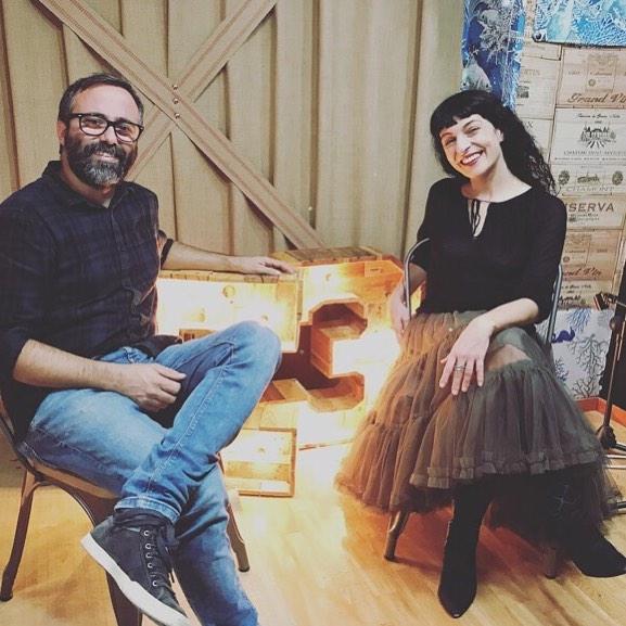 """Va ser un honor visitar-vos @josepbayo !! #Repost: """"Fa temps que m'agrada llegir a la #roseramills. Avui he descobert que parlar amb ella m'agrada encara més"""""""