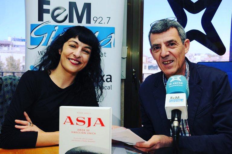 Eduard Cid em va entrevistar ahir a #gironaara de @femgirona per parlar de l'#asjalacis una bona estona!
