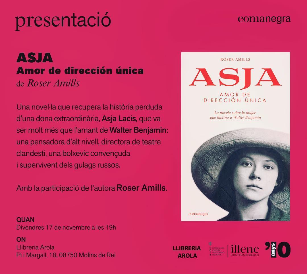 Divendres seré a #MolinsdeRei Ens trobem a la llibreria Arola 💕📚 amb #asjalacis a les 19h