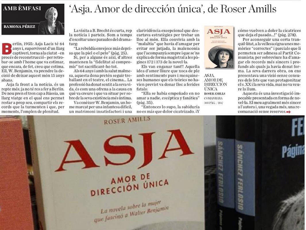 Gracias Ramona Pérez por esta reseña de #asjalacis & #walterbenjamin