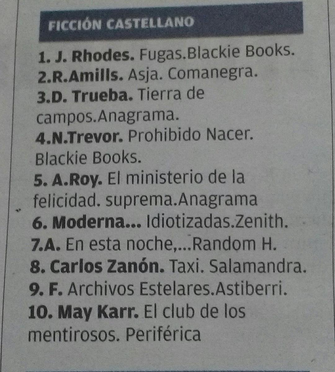 Esta semana #asjalacis es uno de los llibros más vendidos!!! @ratacorner @Comanegra @diariomallorca