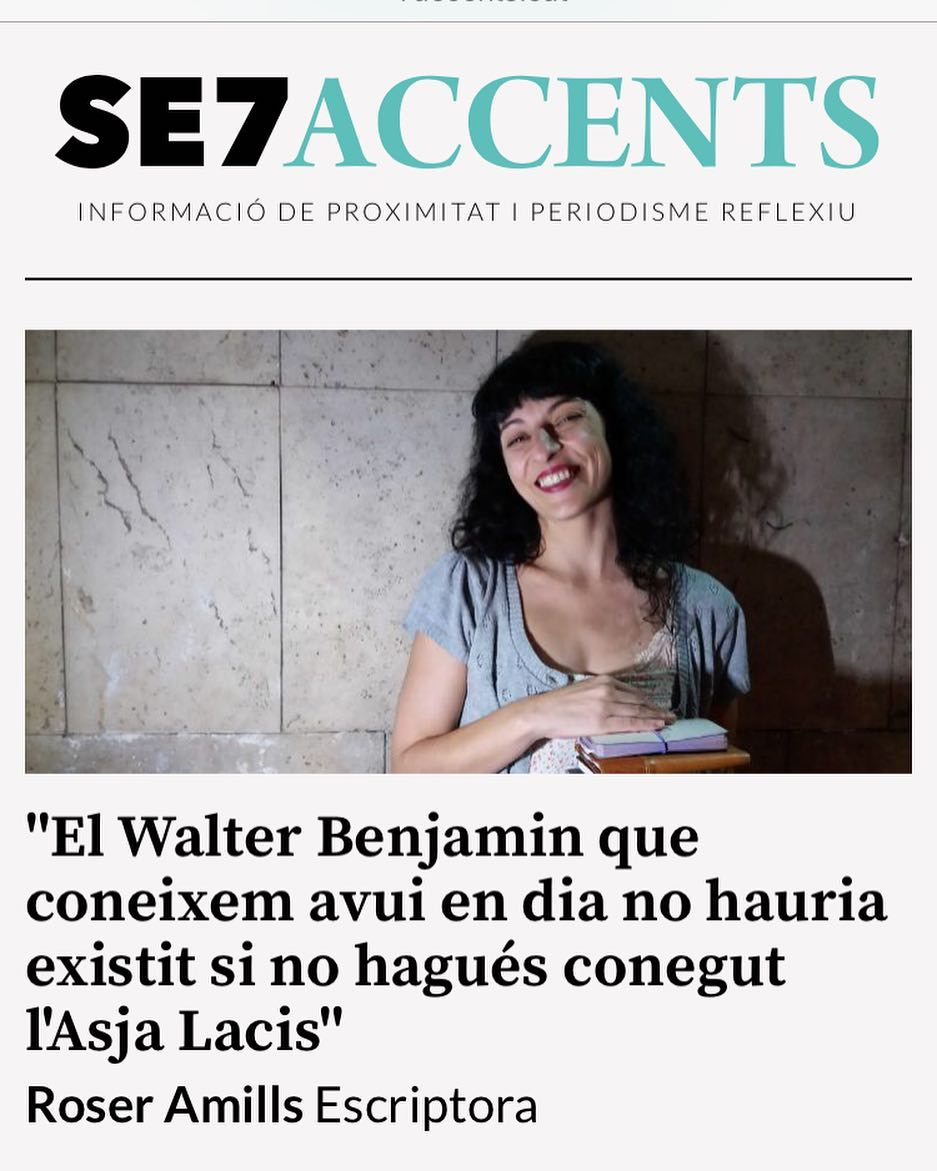 Avui, al @7accents de #Lleida, parlem d'#asjalacis & #walterbenjamin 📚💕 [foto de @albertocalaf 📸]