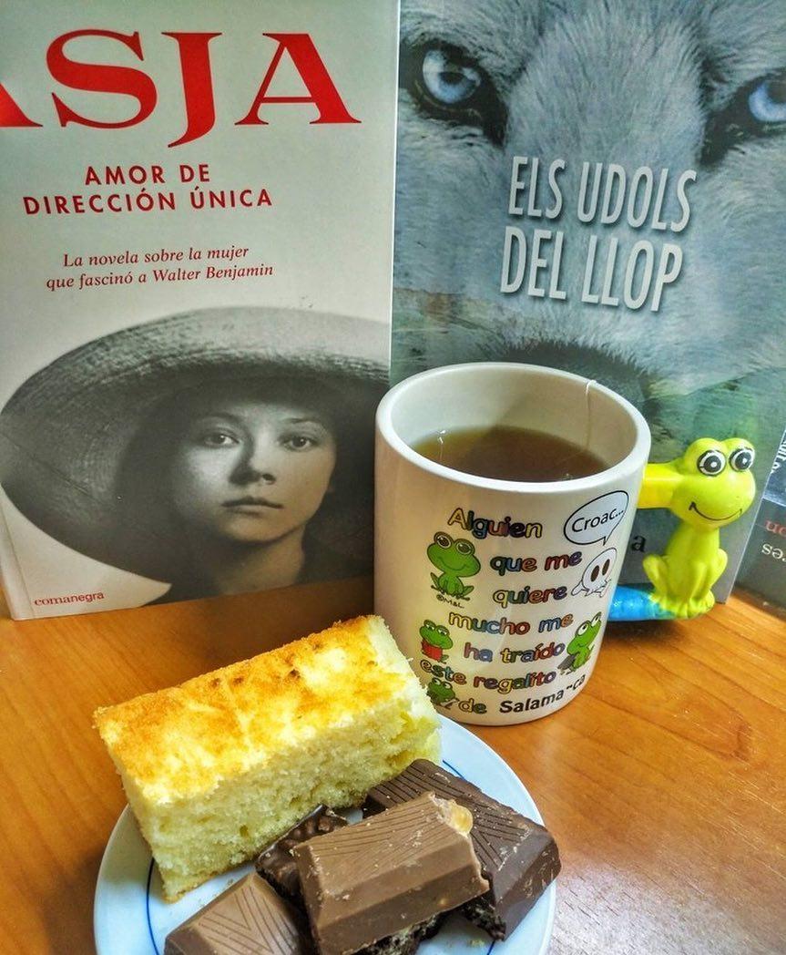Gracias Josep Maria Bessó #RT: Bizcocho con chocolate, infusión y dos libros de dos buenos amigos