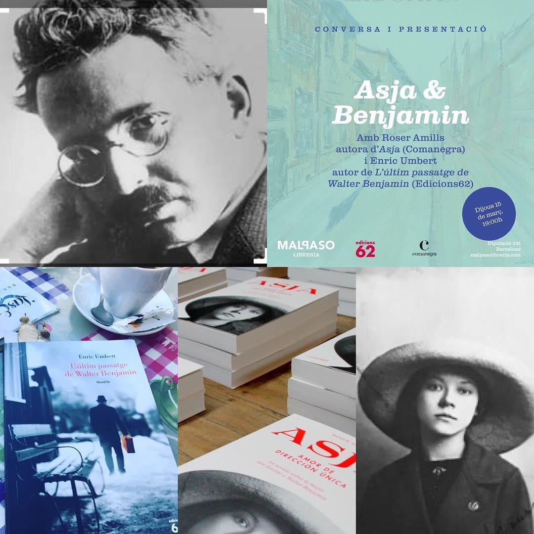 Este jueves, Enric Umbert y Roser Amills hablarán de Asja Lacis y de Walter Benjamin en la @MalpasoLibreria. Dos libros de @Comanegra i @Edicions_62