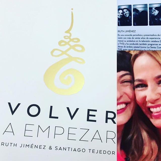 Os recomiendo muchísimo la lectura de este delicioso libro de @ruthjimeneztv y @tejedordeviajes: se titula #volveraempezar y llenará vuestro espíritu de sabios consejos, historias personales y respeto por el amor 💕