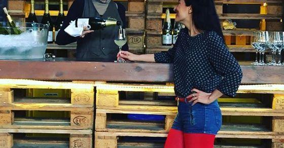 roser amills @toni_perez y a @cavasgramona ;)) #utopiamarkets #utopiamarketspoesia