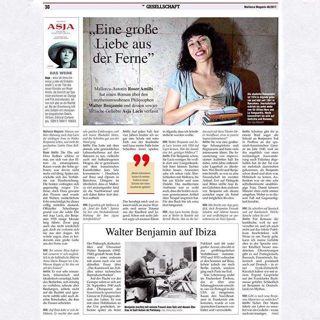 Gracias @mallorca.magazin por esta completa entrevista sobre mi novela y #asjalacis
