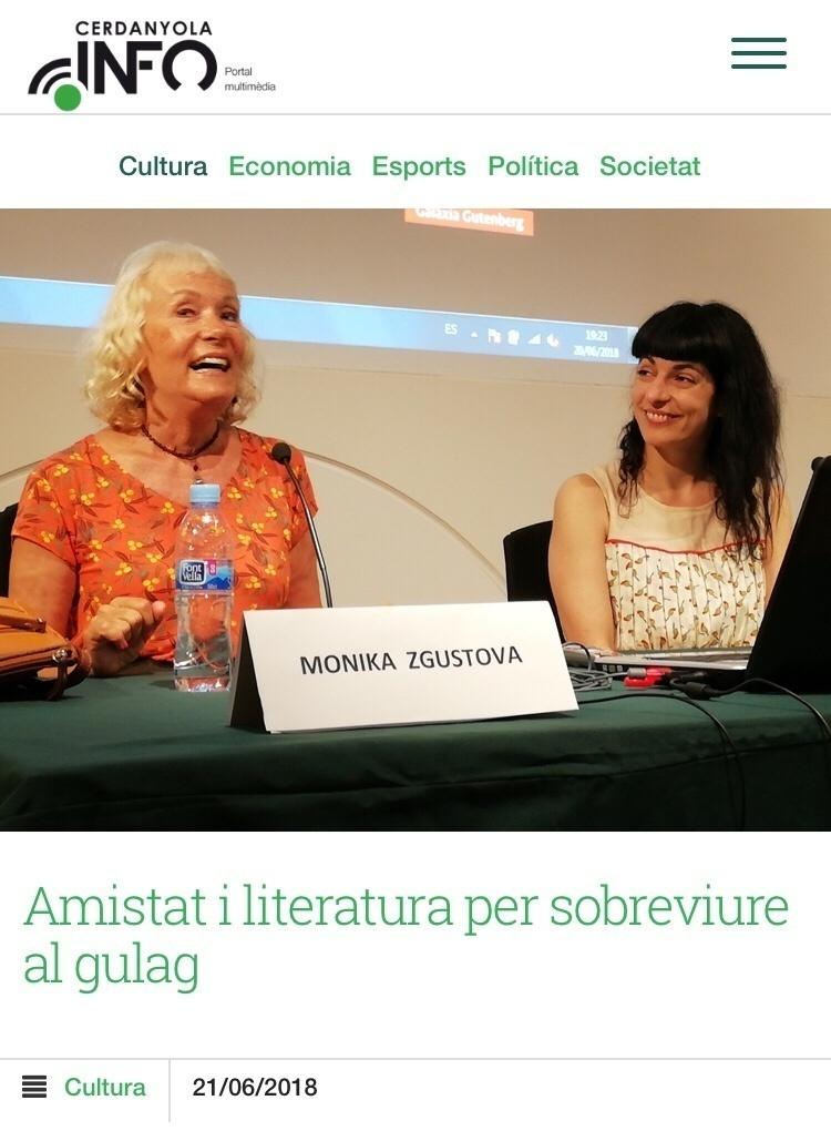 Cerdanyola Info | Les escriptores Monika Zgustova i Roser Amills han conversat al MAC