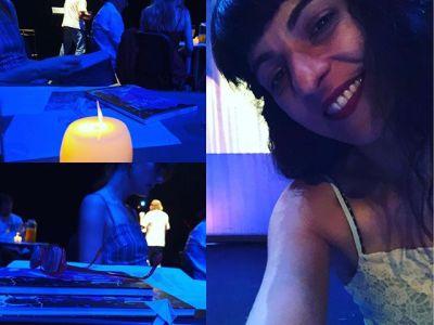 Puse #pajaritas de #bladerunner sobre el escenario de @festival_poesart Artà…