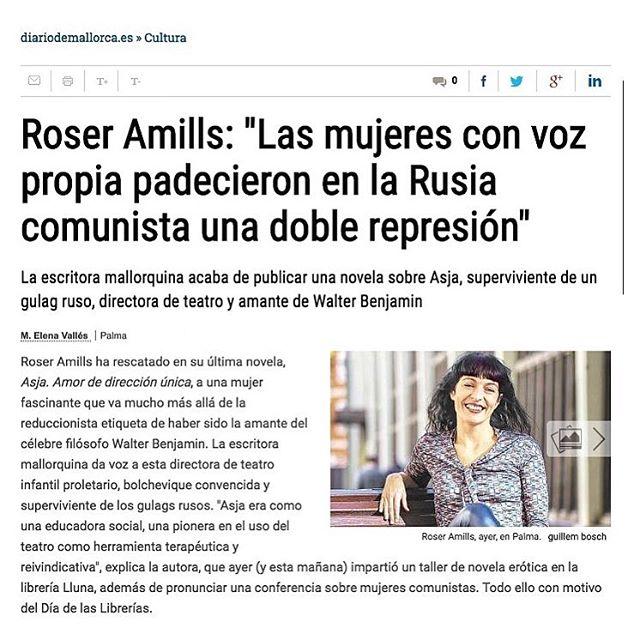 #asjalacis en el @diariodemallorca #cultura #mujeres #walterbenjamin