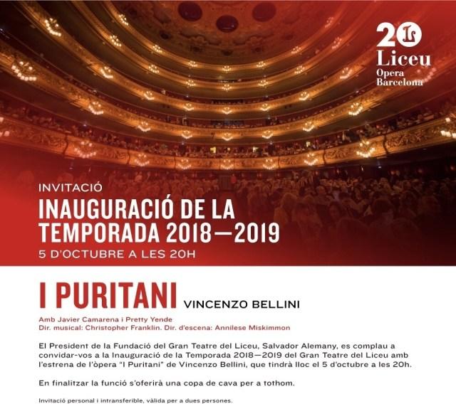 Gala nueva temporada del Liceu 2018