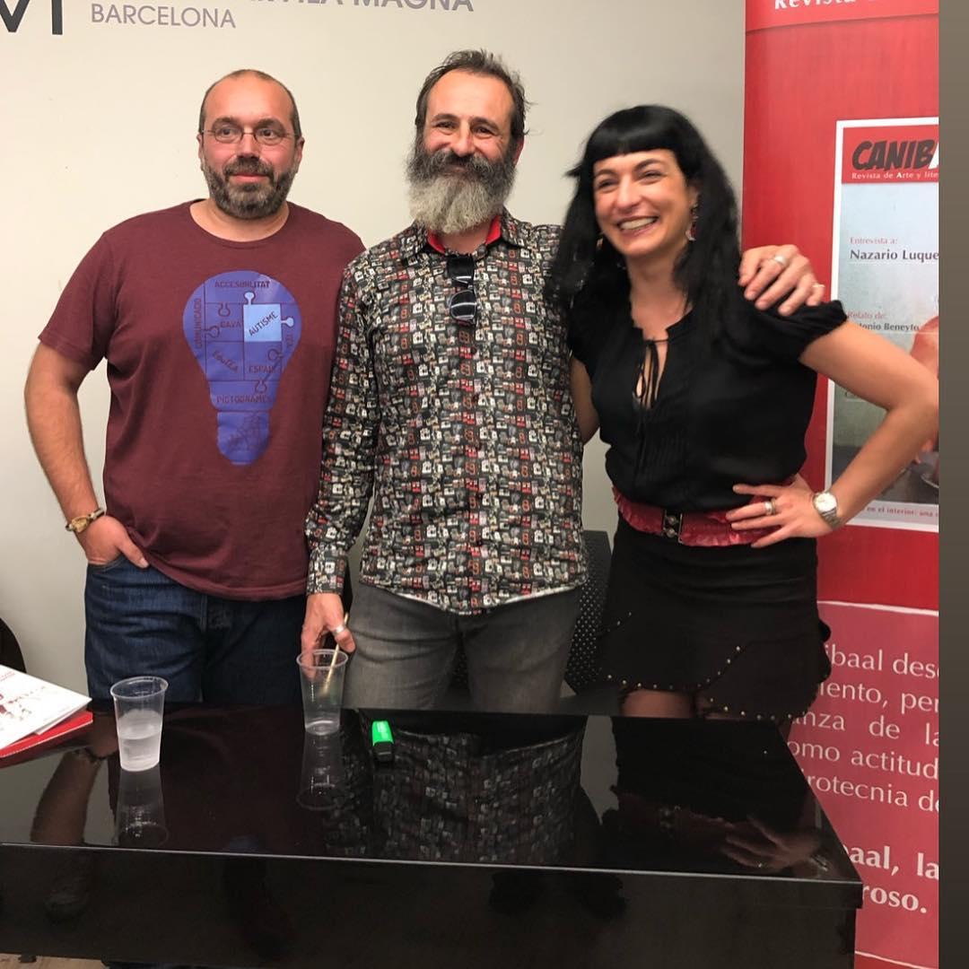 Ayer brillo Canibaal en Barcelona gracias a Ximo Rochera y #laentropíadelosrelojesrotos