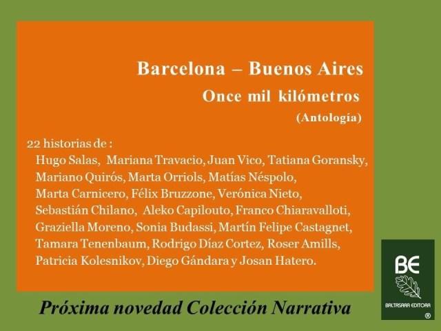 Book Cover: Barcelona - Buenos Aires (ed. Baltasara, Argentina)