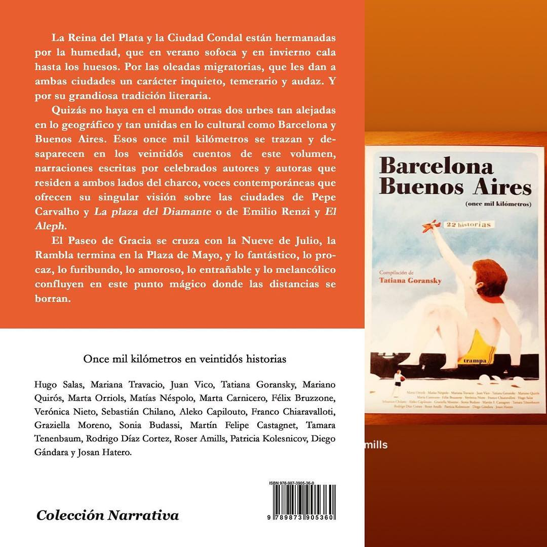 Acá la contratapa de #OnceMilKilómetros edición Argentina. Ya falta menos. Ya casi casi entramos a imprenta con Baltasara Editora.  3, 2, 1… 📚✈️❤️