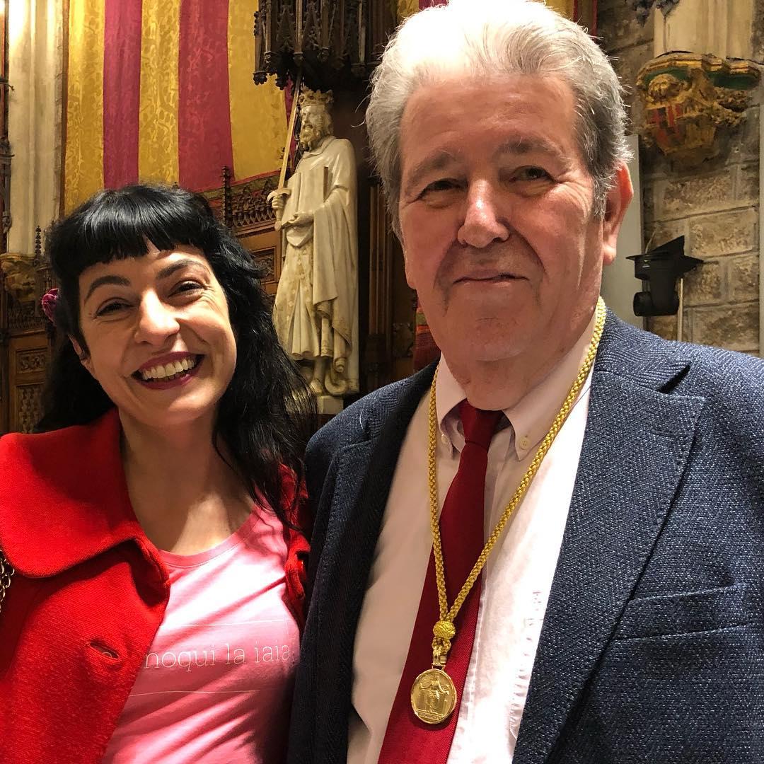 Roser Amills y Jorge Herralde @anagramaeditor #medallador de la CULTURA