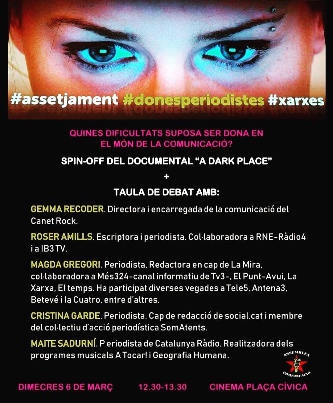 Demà serem a la @uabbarcelona per parlar de dones i comunicació. Compartirem conversa amb @gemmarecoder , @magdagregoriborrell , #cristinagarde i @maitesadurni . Us hi esperem! #8demarç